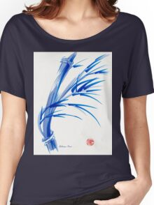 """""""Wind""""  blue sumi-e ink wash painting Women's Relaxed Fit T-Shirt"""