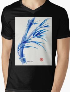 """""""Wind""""  blue sumi-e ink wash painting Mens V-Neck T-Shirt"""