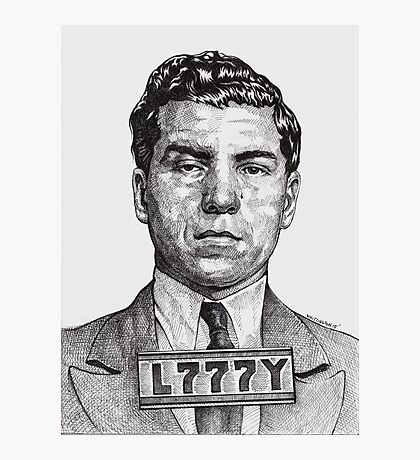 They Call Me Lucky....Lucky Luciano Photographic Print