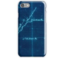 American Revolutionary War Era Maps 1750-1786 831 Plat of a survey for William Hughes Jr of 460 acres in Frederick County Va on the Cacapon River Inverted iPhone Case/Skin