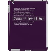 Beatles - Let It Be Lyrics iPad Case/Skin