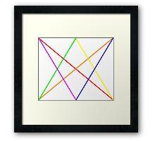 Rainbow diamond+arrows Framed Print