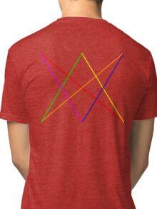 Rainbow diamond+arrows Tri-blend T-Shirt