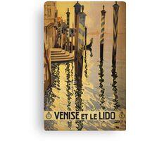 'Venise Et Le Lido' Vintage Travel Poster Canvas Print
