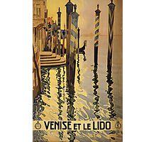 'Venise Et Le Lido' Vintage Travel Poster Photographic Print