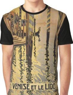'Venise Et Le Lido' Vintage Travel Poster Graphic T-Shirt