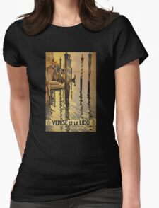 'Venise Et Le Lido' Vintage Travel Poster Womens Fitted T-Shirt