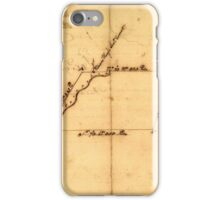 American Revolutionary War Era Maps 1750-1786 829 Plat of a survey for William Hughes Jr of 460 acres in Frederick County Va on the Cacapon River iPhone Case/Skin