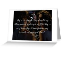 Outlander wedding Quote/Jamie & Claire Fraser/Diana Gabaldon Greeting Card