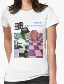 vaporwave vomit Womens Fitted T-Shirt
