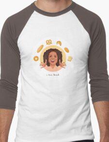 Oprah: I Love Bread Men's Baseball ¾ T-Shirt