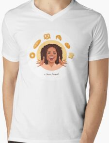 Oprah: I Love Bread Mens V-Neck T-Shirt