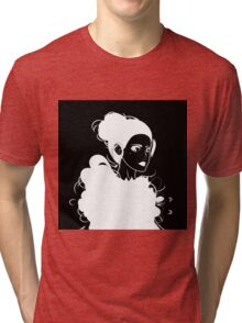 Cat's heart (black and white edition) Tri-blend T-Shirt