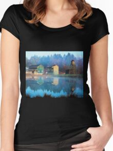 Reflections Of Hope - Hope Valley Art Women's Fitted Scoop T-Shirt