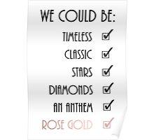 Rose Gold Lyric Poster Poster