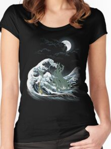 The Wave Off  R'lyeh  Women's Fitted Scoop T-Shirt