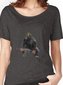Chimp with an AK-47 Women's Relaxed Fit T-Shirt