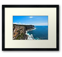 Majestic Cliffs with an Ocean View Framed Print