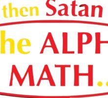 satan math Sticker