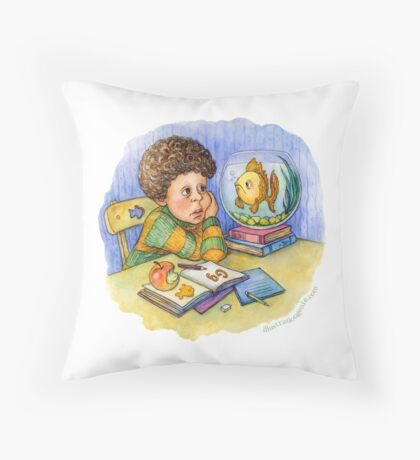 'G' Is For Goldfish Throw Pillow