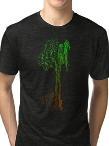 Guitar Tree Fusion (Green/Brown) Tri-blend T-Shirt