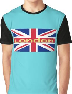 City of London Flag - UK Union Jack Sticker T-Shirt Graphic T-Shirt