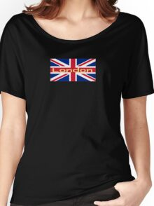 City of London Flag - UK Union Jack Sticker T-Shirt Women's Relaxed Fit T-Shirt