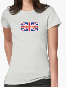 City of London Flag - UK Union Jack Sticker T-Shirt Womens Fitted T-Shirt