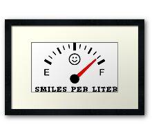 Smiles Per Liter Framed Print