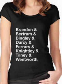 Men of Jane Austen Women's Fitted Scoop T-Shirt