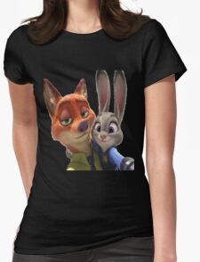 Zootopia Selfie Womens Fitted T-Shirt