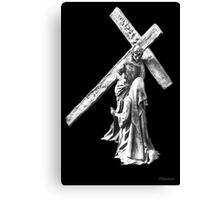 His Cross To Bear Canvas Print