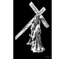 His Cross To Bear Photographic Print