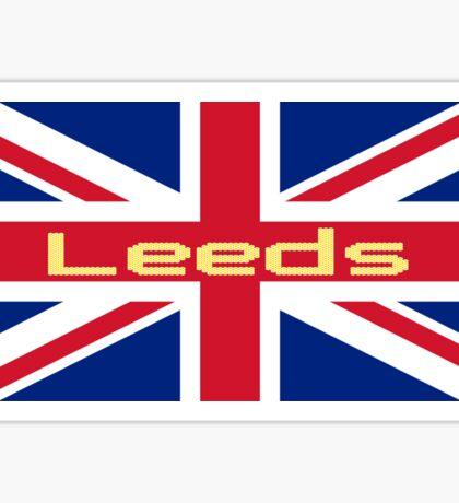 City of Leeds United FC Union Jack UK Flag Sticker T-Shirt Sticker