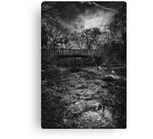 Bridge Black and White Canvas Print