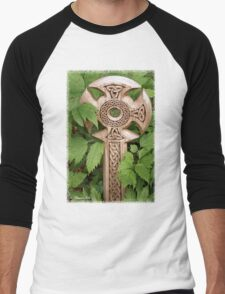 A Celtic Cross for St Patrick's Day Men's Baseball ¾ T-Shirt