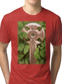 A Celtic Cross for St Patrick's Day Tri-blend T-Shirt