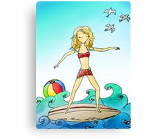 Surfing Girl I Know Canvas Print
