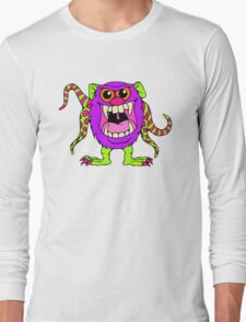 Cute Party Animal Monster Long Sleeve T-Shirt