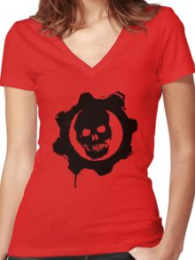 Gears of War Women's Fitted V-Neck T-Shirt