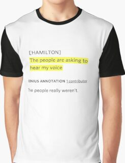 Hamilton rap genius note Graphic T-Shirt