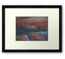 Red Sunset. Framed Print