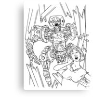 Attack of the Mecha-Zombies! Canvas Print