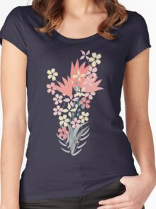 Spring Garden.  Women's Fitted Scoop T-Shirt