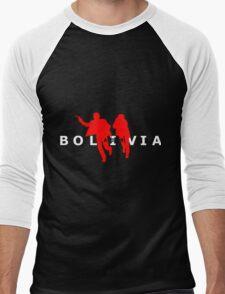 Air Bolivia (dark background) Men's Baseball ¾ T-Shirt
