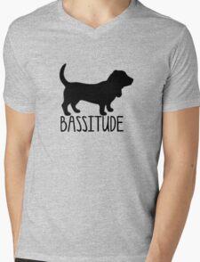 basset hound bassitude Mens V-Neck T-Shirt