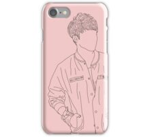 Seventeen - S.Coups line art (Rose Quartz) iPhone Case/Skin