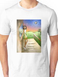 Stargazing Girl I Know Unisex T-Shirt
