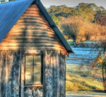 The Little House & the Frost .. HDR Sticker