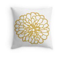 Gold Chrysanthemum  Throw Pillow